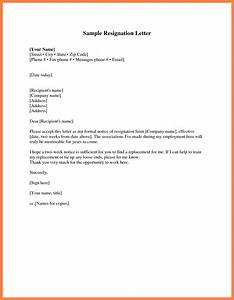 Two Weeks Notice Letter Template cyberuse