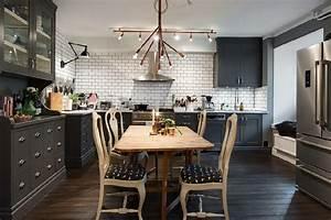 Gray Walls Dark Wood Make For A Warm Cozy Apartment