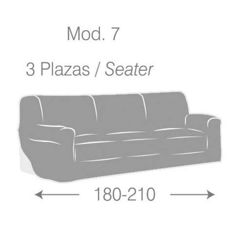 funda sofa 3 plazas elastica funda de sof 225 3 plazas el 225 stica e ul color crudo modagm