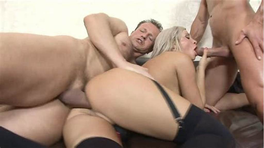 #Young #Blonde #Ravaged #In #Threesome
