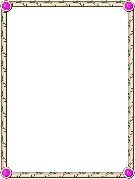 simple border for pages border designs pinterest recipes