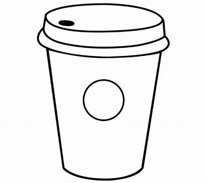Starbucks Coloring Cup Pages Drawing Printable Column
