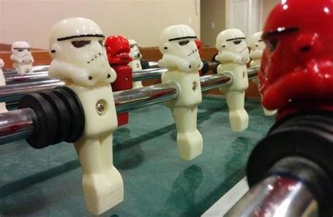 clip  stormtrooper heads  printed  upgrade foosball