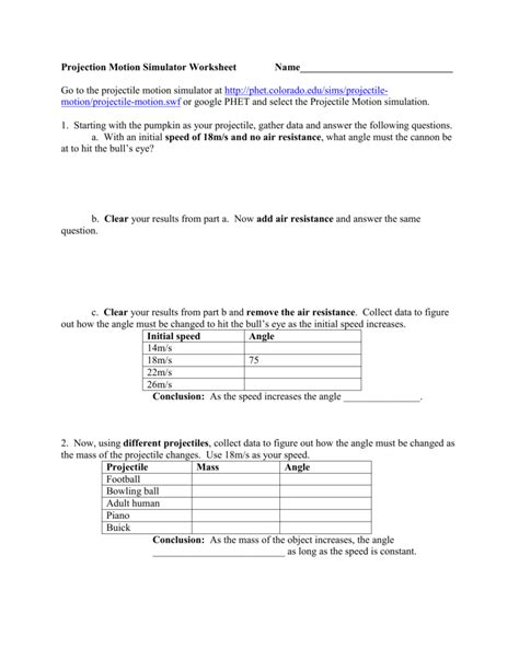 horizontal projectile motion worksheet horizontal projectile motion worksheet worksheets for all and worksheets free