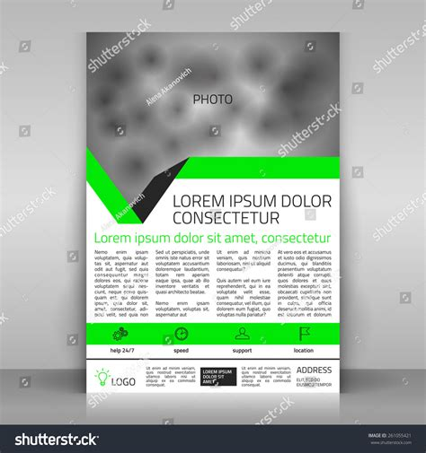 Brochure Vector Mock Up Template Millions Vectors Business Flyer Design Broshure Cover Template Vector