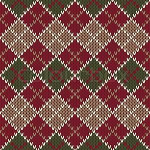 Traditional Christmas Sweater Design. Seamless Argyle ...