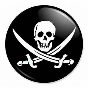 Jolly Roger 25mm 1quot Pin Badge Button Pirate Flag Skull