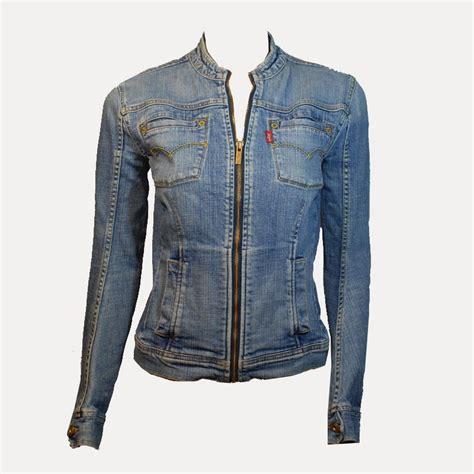 veste en jean troué veste courte cintr 233 e en jean levi s boutique de mode