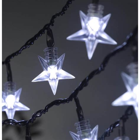 string star lights 100 led battery string lights by garden selections notonthehighstreet