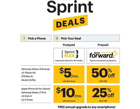sprint iphone deals sprint launches new sprint flex and sprint deals