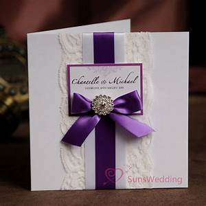 elegant white lace wedding invitations with ribbon bow With wedding invitations with ribbon and buckles