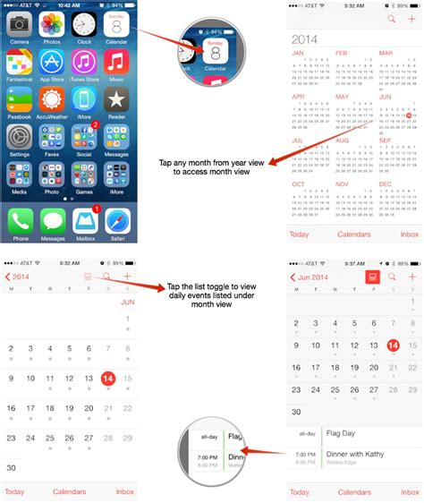 iphone calendar view how to switch calendar views on your iphone or imore
