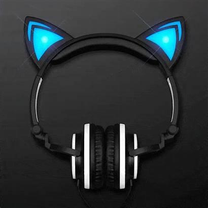 Headphones Cat Ears Kitty Animal Led Blinkee