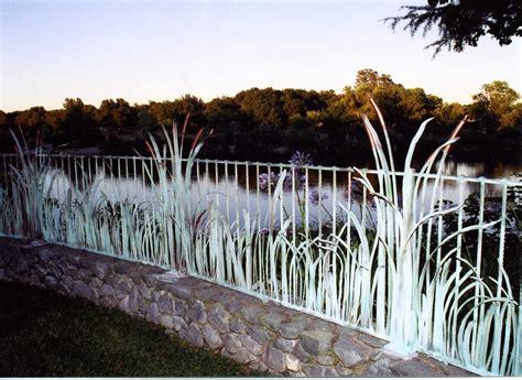 handmade reed plant motif fencing railing  cabinets