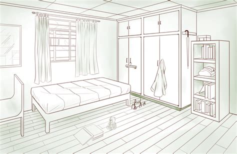 Drawing A Bedroom In One Point Perspective by Bedroom Two Point Perspective By Pixelizedfate