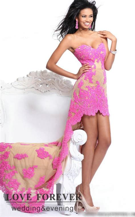 Formal Dresses   FREE SHIPPING  High Low Beautiful Lace