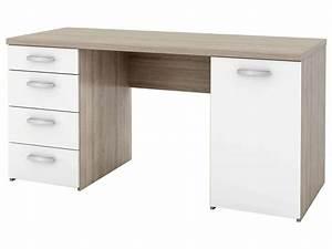 Bureau Avec Rangement : bureau avec tiroir pas cher bureau blanc avec rangement lepolyglotte ~ Teatrodelosmanantiales.com Idées de Décoration