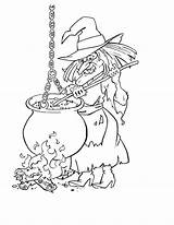 Witch Coloring Wicked Getdrawings sketch template