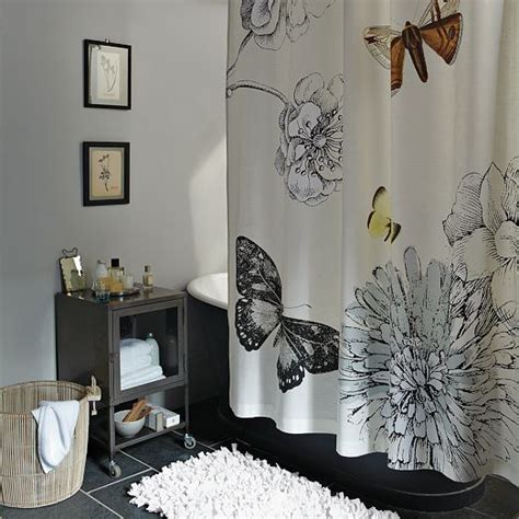 butterfly shower curtain west elm for the home