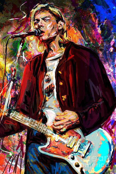 kurt cobain mixed media by rock artist