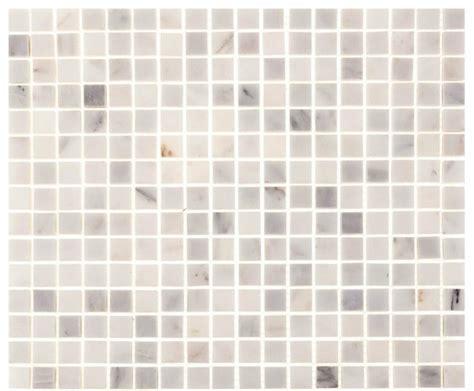 "12""x12"" Aspen White Marble Square Tile   Contemporary"