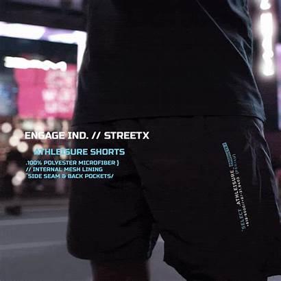 Engage Streetx Shorts Capsule Collaboration Athleasure Microfiber