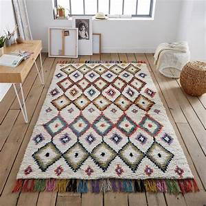 tapis style berbere ourika multicolore la redoute With tapis couloir avec canapé 2 places velours