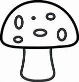 Mushroom Coloring Spots Printable Template Clip Six Features sketch template
