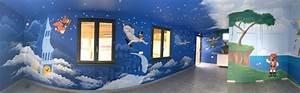 trompe l39oeil fresque murale decor peint prenom plaque With camping bord de mer vendee avec piscine 3 fresques murales decor peint sur facade peinture murale