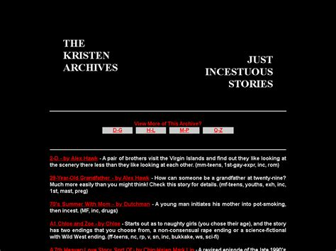 The Kristen Archives Just Incestuous Stories A C