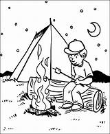 Coloring Camping Printable Campfire Tent Bbq Night Fornt Sheets Students Papa Toddler Getdrawings Boy Getcolorings Template Coloringsun Jobs sketch template