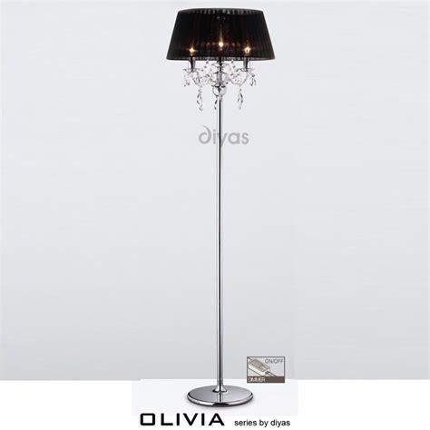 three light floor l diyas uk olivia il il30063 bl polished chrome crystal
