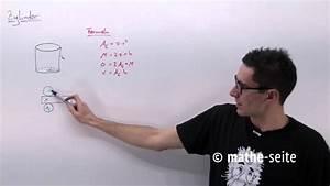Zylinder Volumen Berechnen : zylinder berechnen zylindervolumen zylinderoberfl che mantelfl che youtube ~ Themetempest.com Abrechnung