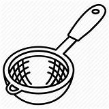 Clipart Sieve Strainer Kitchen Sifter Strain Icon Seive Cartoon Clip Drawing Colander Utensil Ladle Icons Line Colador Bakeware Cookware Material sketch template