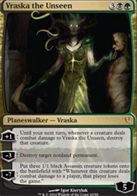 vraska the unseen deck modern vraska the unseen mtg card