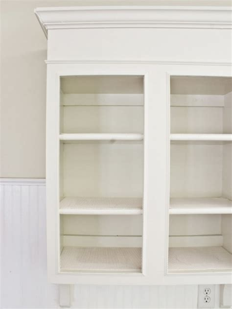 diy whitewashed cabinets  cozy shabby chic decor