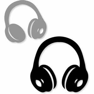 Silhouette Design Store - View Design #20233: headphones