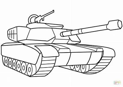 Tank Army Drawing Military Coloring Getdrawings