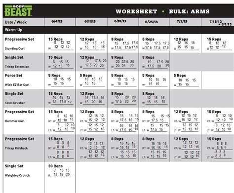beast lean schedule printable pictures to pin on