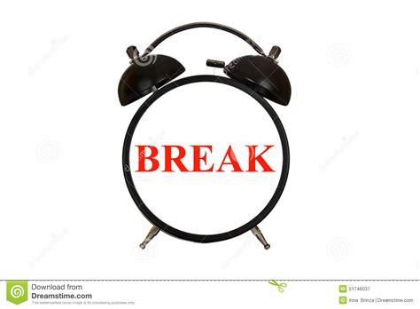 Break Time Stock Image. Image Of Timer, Background, Clock