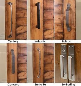 Barn Door Pull w/ Optional Barn Door Locks - Modern
