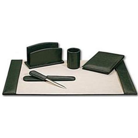 accessoire de bureau original set de bureau cuir vert surdiscount destockage grossiste