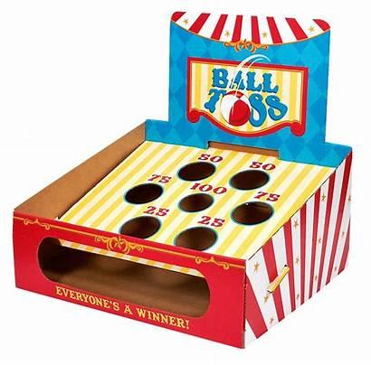 Carnival Toss Ball Clip Clipart Games Cardboard