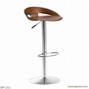Tabouret De Bar En Cuir : tabouret de bar r glable en cuir john epoxia mobilier ~ Dailycaller-alerts.com Idées de Décoration