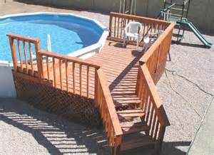 above ground pool deck diy pinterest