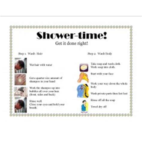 visual schedule for showering april 2018 printable year calendar