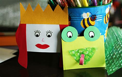 quick  easy envelope hand puppets   takes