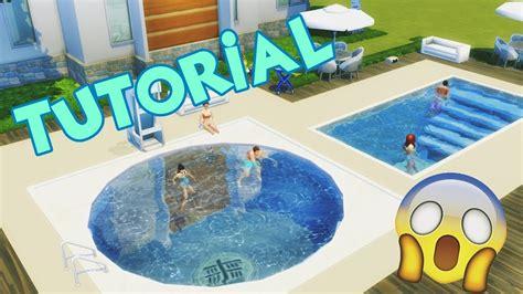 """Poltrona Gonfiabile Piscina The Sims : Piscina Redonda + Escada Na Piscina """"�the Sims 4 (tutorial"""