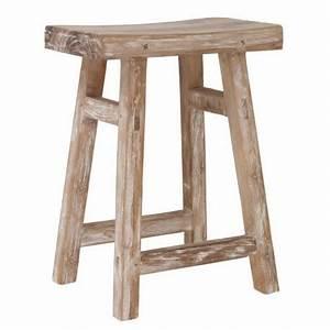 Tabouret Bois Brut : tabouret bois de teck recycle style campagne brut artisanal hk living hap6093 ~ Teatrodelosmanantiales.com Idées de Décoration