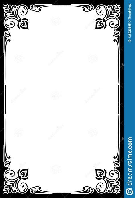 restaurant menu card frame template stock vector